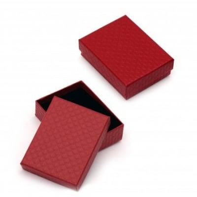 Кутийка за бижута 70x90 мм червена