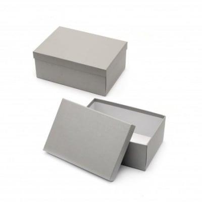 Кутия за подарък правоъгълна 22x16x9 см сива