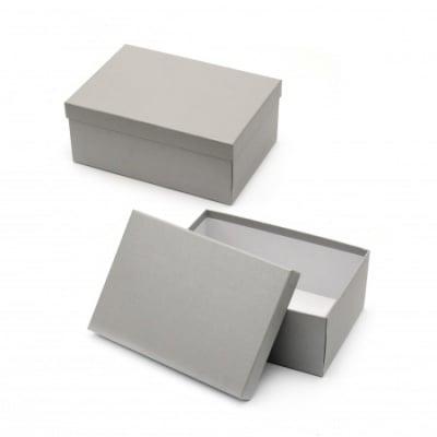 Кутия за подарък правоъгълна 24.5x17.5x10 см сива