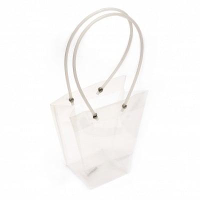 Торбичка подаръчна от PP материал 160x80~160x80~80 мм прозрачна