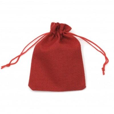 Торбичка от зебло 9.5x13.8 см червена