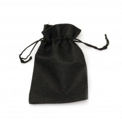Торбичка от зебло 9.5x13.8 см черна