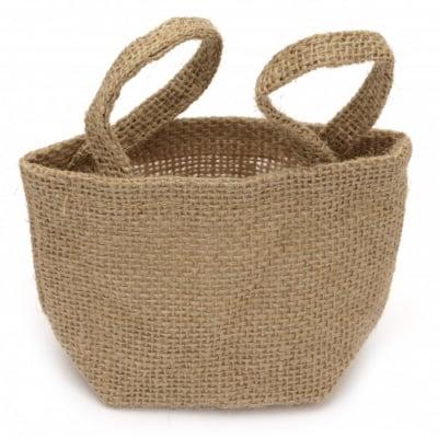 Торбичка от зебло тип кашпа 70~125x80~150 мм непромокаема с дръжки