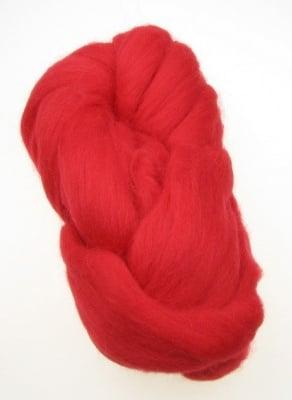 Прежда лента вълна червена 100 грама ±5 метра