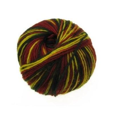 Прежда вълна жълто , зелено , червено -50 грама