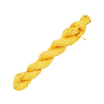 Шнур полиестер 2 мм жълто тъмно ~10 метра