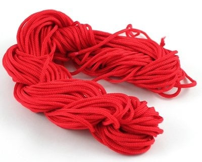 Шнур полиестер 1.5 мм червен ~18 метра