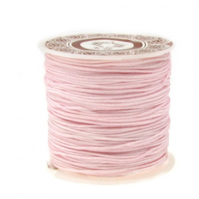 Шнур полиестер 1 мм розов ±35 метра