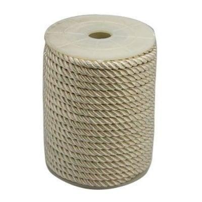 Шнур полиестер 5 мм бял -1 метър