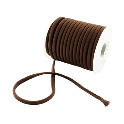 Шнур коприна 5x3 мм Habotai цвят кафяв -1 метър