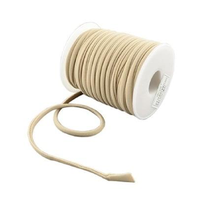 Шнур коприна 5x3 мм Habotai цвят бежов -1 метър