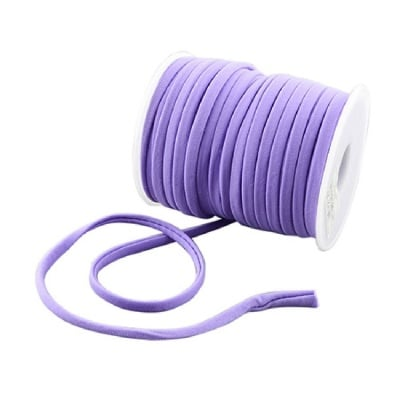 Шнур коприна 5x3 мм Habotai цвят лилав светло -1 метър