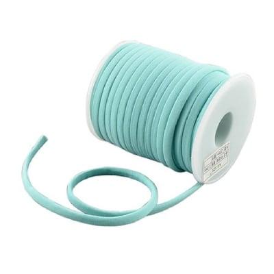Шнур коприна 5x3 мм Habotai цвят син светло -1 метър