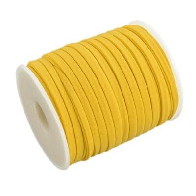 Шнур коприна 5x3 мм Habotai цвят жълт -1 метър