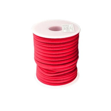 Шнур коприна 5x3 мм Habotai цвят червен -1 метър
