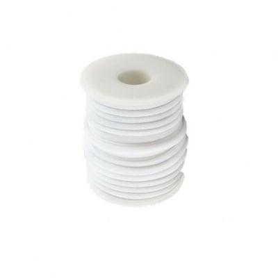 Шнур коприна 5x3 мм Habotai цвят бял -1 метър