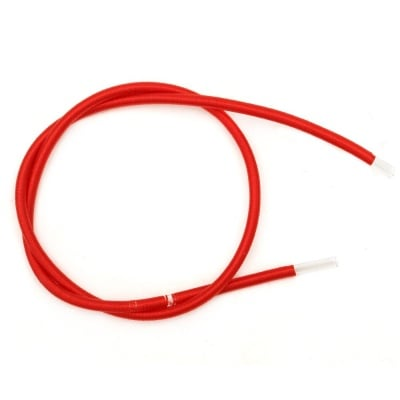 Шнур шлауфка 3 мм дупка 1.5 мм текстил червен -46 см