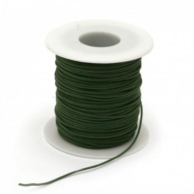 Шнур полиестер 1.5 мм зелен ~45 метра