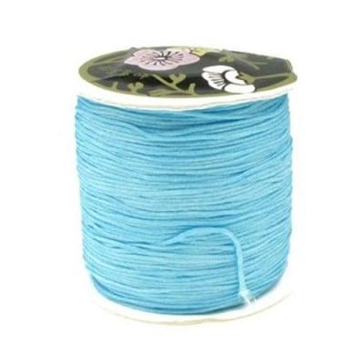 Шнур полиестер 1 мм син ~80 метра
