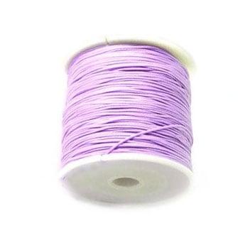 Шнур полиестер 1 мм лилав светъл ±90 метра