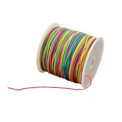 Шнур полиестер 1 мм цветен ±90 метра
