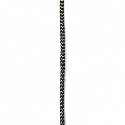 Шнур полиестер 4 мм черен с ламе ~5 метра