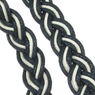 Ширит 15 мм памук колосан плитка бяла и черна -2 метър