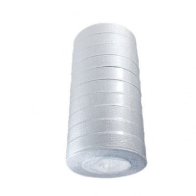 Лента oрганза 20 мм сребро ~22 метра