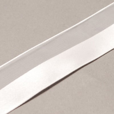 Лента органза и сатен 40 мм бяла -1 метър