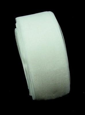 Лента органза 38 мм бялa ~45 метра