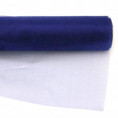 Органза 48x450 см синя индиго
