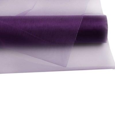 Органза 48x450 см лилава тъмно