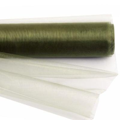 Органза 48x450 см зелена