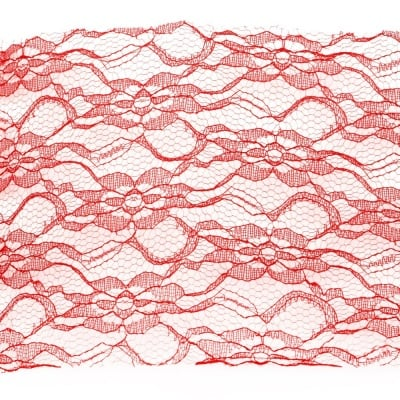 Лента дантела 150 мм червена -1 метра
