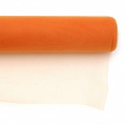 Тюл мек за декорация 48x450 см оранжев