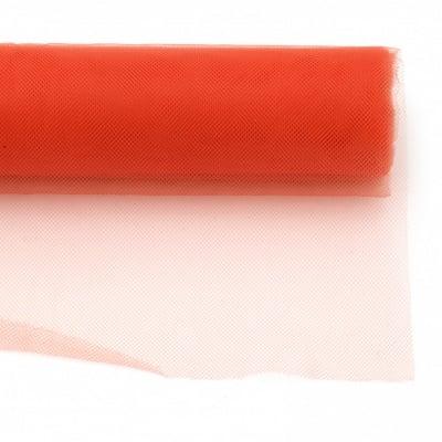 Тюл мек за декорация 48x450 см оранжев светъл