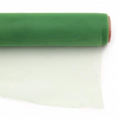 Тюл мек за декорация 48x450 см зелен