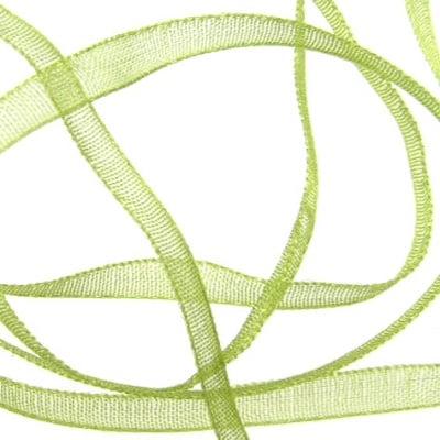Ширит Органза 3мм зелена светло -810 метра