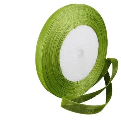 Лента органза 20 мм тъмно зелена -45 метра