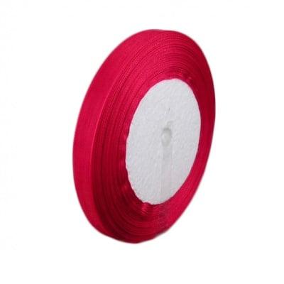 Лента органза 25 мм червена -45 метра