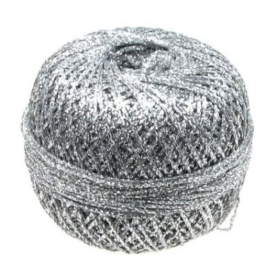 Ламе плетено Ст 90 процента ламе 10 процента полиамид 50 грама сребро -400 метра