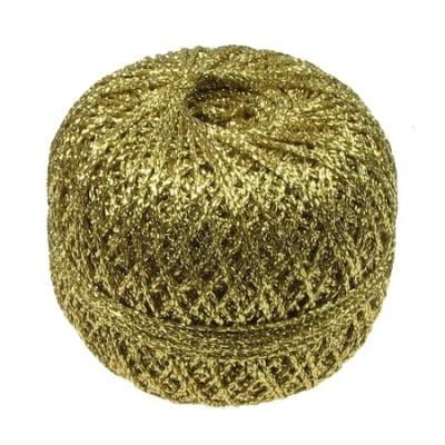 Ламе плетено Ст 90 процента ламе 10 процента полиамид 50 грама злато -400 метра