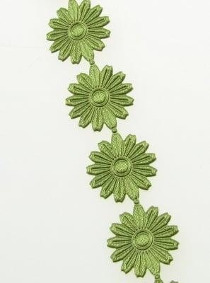 Ширит цвете 17 мм за декорация зелен