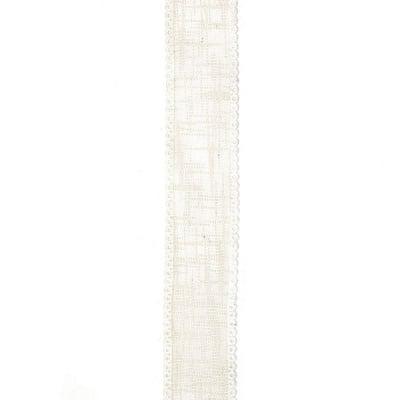Лента коноп и сатен 23 мм крем -2 метра