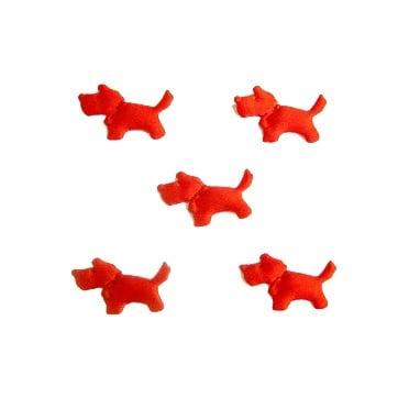 Куче мини 14мм. червено -50бр.
