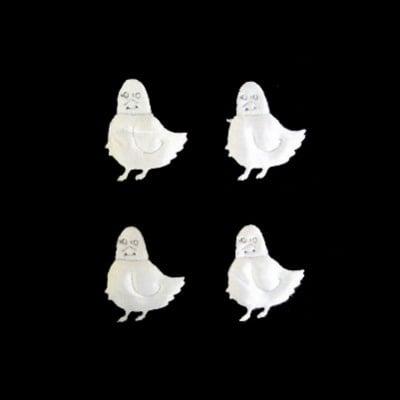 Пиле 26мм. бяло -50бр.