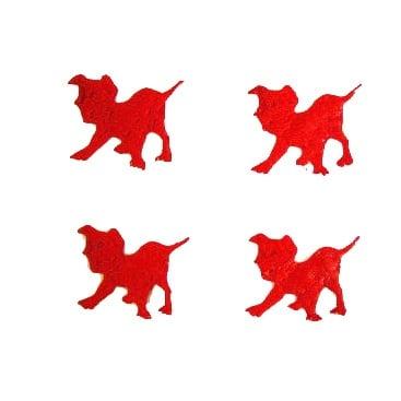 Куче далматинец 23мм. червено -50бр.