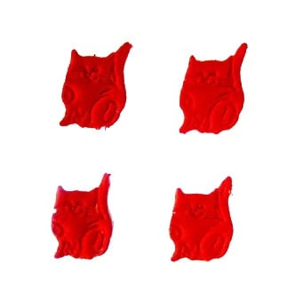 Котка 23мм. червена -50бр.