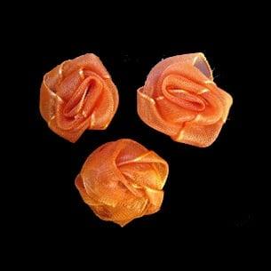 Роза тюл 25 мм. оранж -10 броя
