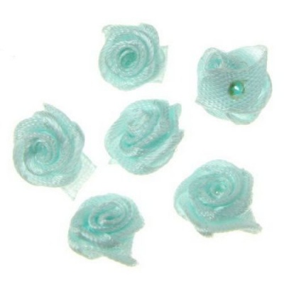Роза 11 мм светло синя -50 броя